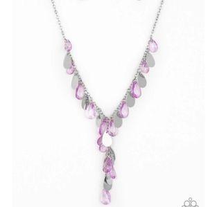 paparazzi Jewelry - Purple necklace/earrings paparazzi